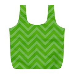 Zigzag  Pattern Full Print Recycle Bags (l)  by Valentinaart