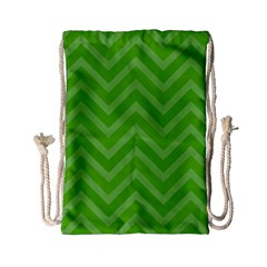 Zigzag  Pattern Drawstring Bag (small) by Valentinaart