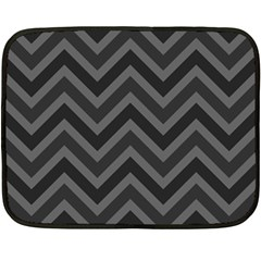 Zigzag  Pattern Fleece Blanket (mini) by Valentinaart