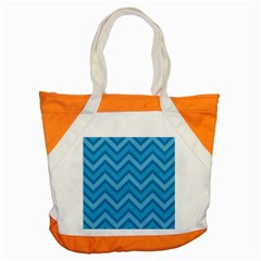 Zigzag  Pattern Accent Tote Bag by Valentinaart