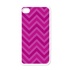 Zigzag  Pattern Apple Iphone 4 Case (white) by Valentinaart
