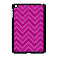 Zigzag  Pattern Apple Ipad Mini Case (black) by Valentinaart