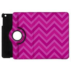Zigzag  Pattern Apple Ipad Mini Flip 360 Case by Valentinaart