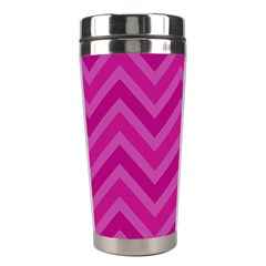 Zigzag  Pattern Stainless Steel Travel Tumblers by Valentinaart