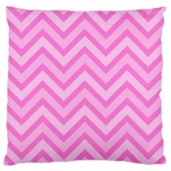 Zigzag  Pattern Large Flano Cushion Case (one Side) by Valentinaart