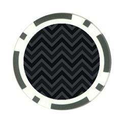 Zigzag  Pattern Poker Chip Card Guard by Valentinaart