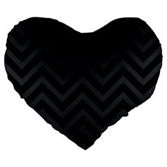 Zigzag  Pattern Large 19  Premium Heart Shape Cushions by Valentinaart