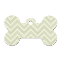 Zigzag  Pattern Dog Tag Bone (two Sides) by Valentinaart