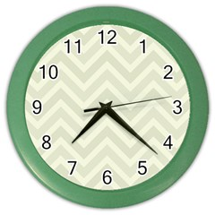 Zigzag  Pattern Color Wall Clocks by Valentinaart