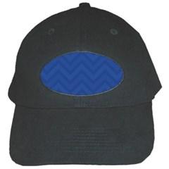 Zigzag  Pattern Black Cap by Valentinaart