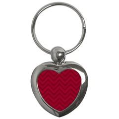 Zigzag  Pattern Key Chains (heart)  by Valentinaart