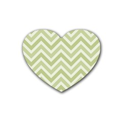 Zigzag  Pattern Rubber Coaster (heart)  by Valentinaart