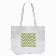 Zigzag  Pattern Tote Bag (white) by Valentinaart
