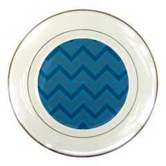 Zigzag  Pattern Porcelain Plates by Valentinaart