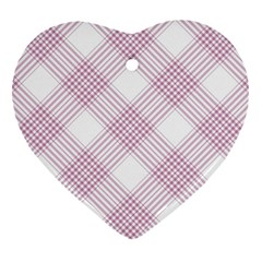 Zigzag Pattern Heart Ornament (two Sides) by Valentinaart