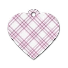 Zigzag Pattern Dog Tag Heart (two Sides) by Valentinaart