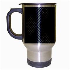 Zigzag Pattern Travel Mug (silver Gray) by Valentinaart