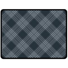 Zigzag Pattern Fleece Blanket (large)  by Valentinaart