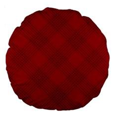 Zigzag Pattern Large 18  Premium Flano Round Cushions by Valentinaart