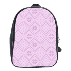Pattern School Bags (xl)  by Valentinaart