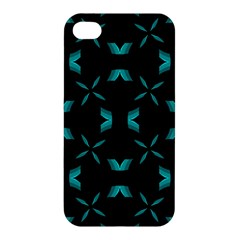 Background Black Blue Polkadot Apple Iphone 4/4s Premium Hardshell Case by Mariart