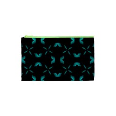 Background Black Blue Polkadot Cosmetic Bag (xs) by Mariart