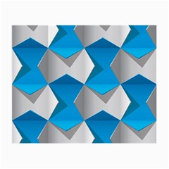 Blue White Grey Chevron Small Glasses Cloth by Mariart