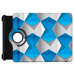 Blue White Grey Chevron Kindle Fire Hd 7  by Mariart
