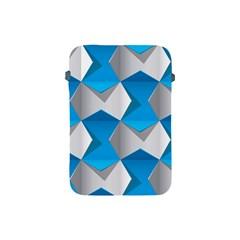 Blue White Grey Chevron Apple iPad Mini Protective Soft Cases