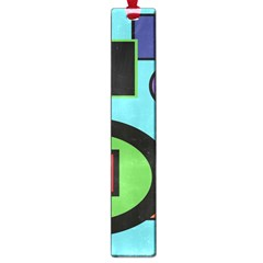 Basic Shape Circle Triangle Plaid Black Green Brown Blue Purple Large Book Marks by Mariart