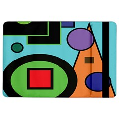 Basic Shape Circle Triangle Plaid Black Green Brown Blue Purple Ipad Air 2 Flip by Mariart