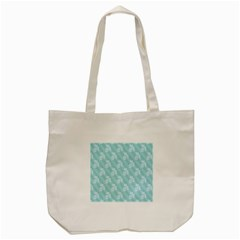 Christmas Day Ribbon Blue Tote Bag (cream) by Mariart