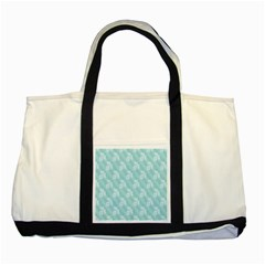Christmas Day Ribbon Blue Two Tone Tote Bag by Mariart