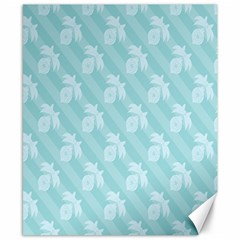 Christmas Day Ribbon Blue Canvas 8  X 10  by Mariart