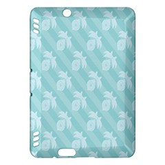 Christmas Day Ribbon Blue Kindle Fire Hdx Hardshell Case by Mariart