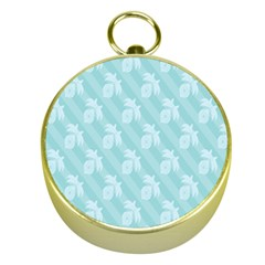 Christmas Day Ribbon Blue Gold Compasses by Mariart