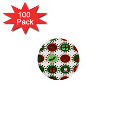 Christmas 1  Mini Buttons (100 Pack)  by Mariart