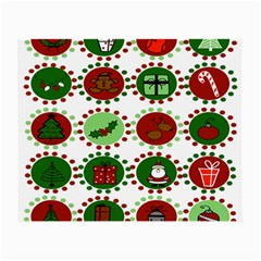 Christmas Small Glasses Cloth by Mariart