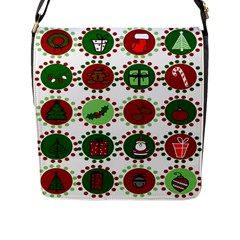 Christmas Flap Messenger Bag (l)  by Mariart