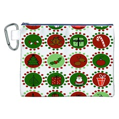 Christmas Canvas Cosmetic Bag (xxl) by Mariart