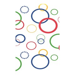 Circle Round Green Blue Red Pink Yellow Shower Curtain 48  X 72  (small)  by Mariart