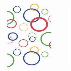 Circle Round Green Blue Red Pink Yellow Small Garden Flag (two Sides) by Mariart