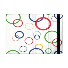 Circle Round Green Blue Red Pink Yellow Apple Ipad Mini Flip Case by Mariart