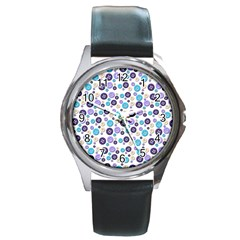 Buttons Chlotes Round Metal Watch by Mariart