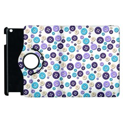 Buttons Chlotes Apple Ipad 3/4 Flip 360 Case by Mariart