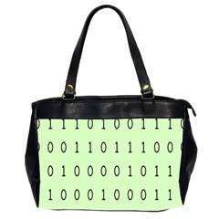 Code Number One Zero Office Handbags (2 Sides)  by Mariart