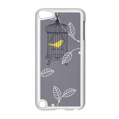 Cagr Bird Leaf Grey Yellow Apple Ipod Touch 5 Case (white) by Mariart