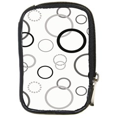 Circle Round Black Grey Compact Camera Cases by Mariart