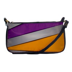 Colorful Geometry Shapes Line Green Grey Pirple Yellow Blue Shoulder Clutch Bags by Mariart