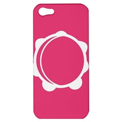 Circle White Pink Apple Iphone 5 Hardshell Case by Mariart